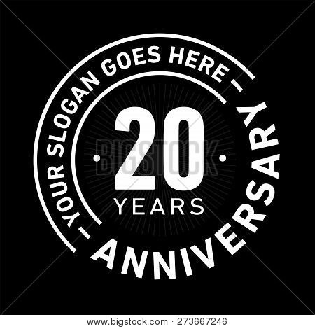 poster of 20 Years Anniversary Logo. 20th Vector And Illustration.