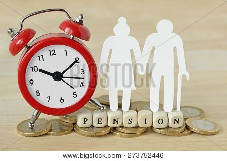 The Word Pension Written With