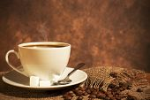 stock photo of cup coffee  - Close - JPG