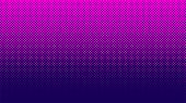 Halftone Pattern. Horizontal Vector Illustration. Pink Dots, Blue Halftone Texture. Color Halftone G poster