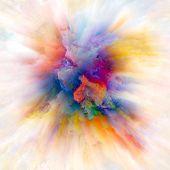Energy Of Color Splash Explosion poster