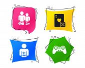 Gamer Icons. Board Games Players Signs. Video Game Joystick Symbol. Casino Playing Card. Geometric C poster