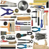 Herramientas para madera, metal y otras construcciones el trabajo.