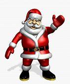 Santa zwaaien