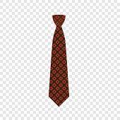 Elegant Tie Icon. Flat Illustration Of Elegant Tie Vector Icon For Web Design poster