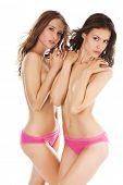 picture of beautiful women  - Two beautiful naked  women Isolated - JPG