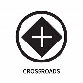 Crossroads Icon Isolated On White Background. Crossroads Icon Simple Sign. Crossroads Icon Trendy An poster