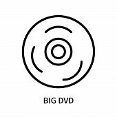Big Dvd Icon Isolated On White Background. Big Dvd Icon Simple Sign. Big Dvd Icon Trendy And Modern  poster