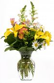 stock photo of flower vase  - A bouquet of flowers in a vase - JPG