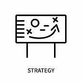 Strategy Icon Isolated On White Background. Strategy Icon Simple Sign. Strategy Icon Trendy And Mode poster