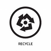 Recycle Icon Isolated On White Background. Recycle Icon Simple Sign. Recycle Icon Trendy And Modern  poster