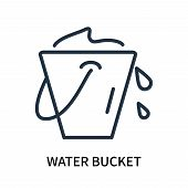 Water Bucket Icon Isolated On White Background. Water Bucket Icon Simple Sign. Water Bucket Icon Tre poster