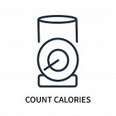 Count Calories Icon Isolated On White Background. Count Calories Icon Simple Sign. Count Calories Ic poster