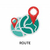 Route Icon Isolated On White Background. Route Icon Simple Sign. Route Icon Trendy And Modern Symbol poster