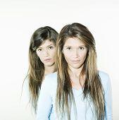 Twin Sisters Woman Portrait