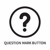 Question Mark Button Icon Isolated On White Background. Question Mark Button Icon Simple Sign. Quest poster