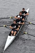 University of Pennsylvania Crew Mens Fours races in the Head of Charles Regatta