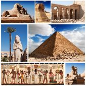 Egypt, sphinx and pyramids collection.