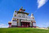 Golden Abode Of Buddha Shakyamuni, Buddhist Temple In Elista. poster