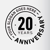 20 Years Anniversary Logo. 20th Vector And Illustration. poster