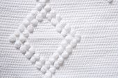 cotton tricot pique white fabric macro texture background
