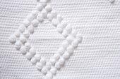 Fondo de textura de algodón punto piqué blanco tela macro