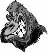 Gorilla Or Ape Mascot Cartoon.gorilla Or Ape Mascot Cartoon.