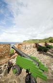 Canhões Fort Oranje Oranjestad Sint Eustatius ilha caribenha Holanda