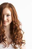 picture of teenage girl  - Portrait Of Attractive Teenage Girl In Studio - JPG
