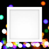Empty White Frame Template On Colors Bokeh Lights Gradient Colorful Soft, White Rectangle Frame Blan poster