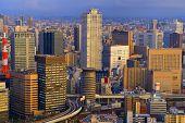 Osaka skyline at Umeda District in Japan