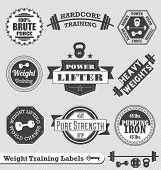 pic of kettling  - Collection of retro weight lifting labels and stickers - JPG