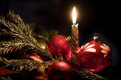 Candle And Christmas-Tree Decorations