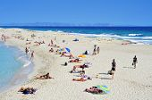 FORMENTERA, SPAIN - SEPTEMBER 20: Ses Illetes Beach on September 20, 2012 in Formentera, Balearic Is