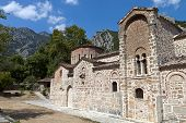Old church of Porta Panagia at Trikala city in Greece
