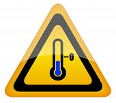 Low temperature warning sign