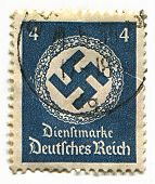 GERMANY - CIRCA 1937: A stamp printed in Germany shows image of the swastika  is an equilateral cros