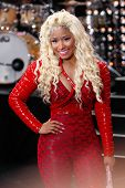 NEW YORK-AUG 14: Singer Nicki Minaj performs on NBC's Today Show at Rockefeller Plaza on August 14,