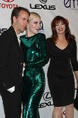 LOS ANGELES - SEP 29:  Tyler Shields, Francesca Eastwood, Frances Fisher arrives at the 2012 Environ