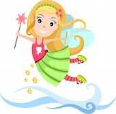 picture of tooth-fairy  - vector illustration of a cute Tooth Fairy - JPG