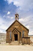 Pionero de la iglesia en el pueblo fantasma de Bodie