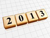 Year 2013 In Golden Cubes.