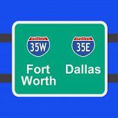Freeway To Dallas Sign