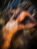 Motion Blur Image Of Naked Woman