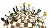 Conceito de planeta xadrez