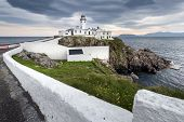 picture of coast guard  - Lighthouse at Fanad Head North Coast of Donegal Ireland - JPG