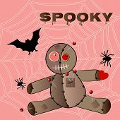 picture of voodoo  - Voodoo doll with spider - JPG