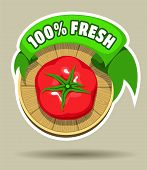 Fresh tomato sticker