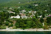 Traditional Village On Mount Athos, Greece
