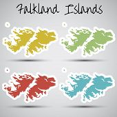 stickers in form of Falkland Islands